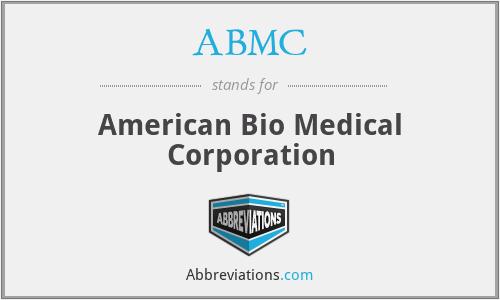 ABMC - American Bio Medical Corporation