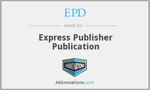 EPD - Express Publisher Publication
