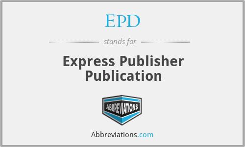 EPD - Express Publisher Publication