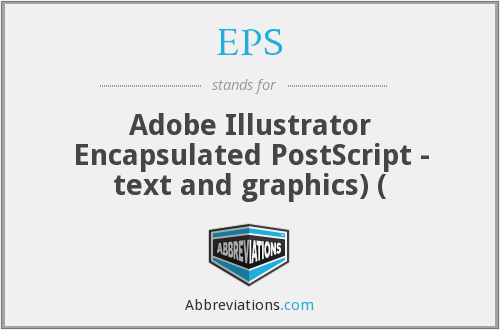 EPS - Adobe Illustrator Encapsulated PostScript - text and graphics) (