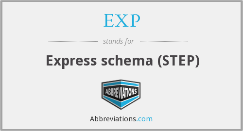 EXP - Express schema (STEP)