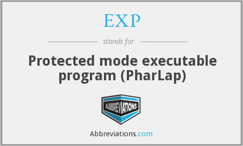EXP - Protected mode executable program (PharLap)