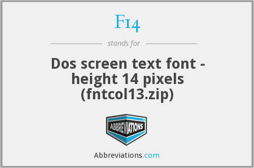 F14 - Dos screen text font - height 14 pixels (fntcol13.zip)