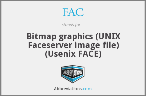 FAC - Bitmap graphics (UNIX Faceserver image file) (Usenix FACE)