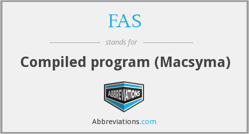 FAS - Compiled program (Macsyma)
