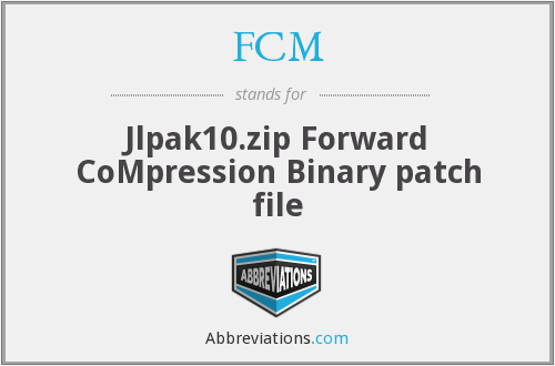FCM - Jlpak10.zip Forward CoMpression Binary patch file