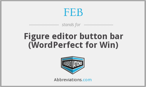 FEB - Figure editor button bar (WordPerfect for Win)