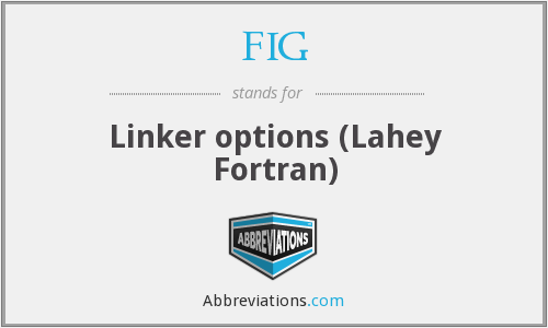 FIG - Linker options (Lahey Fortran)