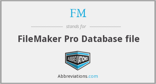 FM - FileMaker Pro Database file
