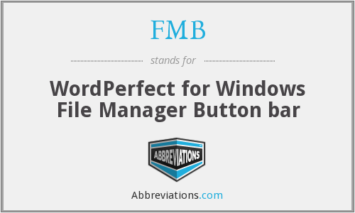 FMB - WordPerfect for Windows File Manager Button bar