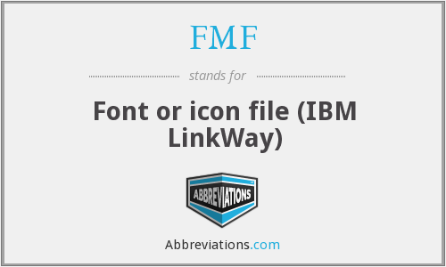 FMF - Font or icon file (IBM LinkWay)