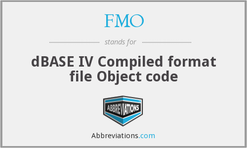 FMO - dBASE IV Compiled format file Object code