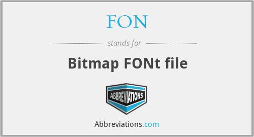 FON - Bitmap FONt file