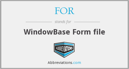 FOR - WindowBase Form file