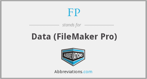 FP - Data (FileMaker Pro)