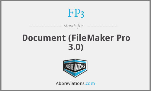 FP3 - Document (FileMaker Pro 3.0)