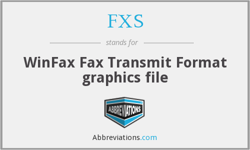 FXS - WinFax Fax Transmit Format graphics file