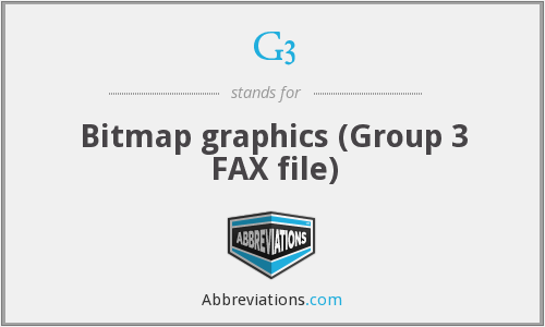 G3 - Bitmap graphics (Group 3 FAX file)