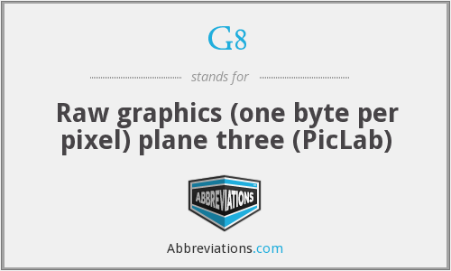 G8 - Raw graphics (one byte per pixel) plane three (PicLab)