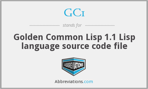 GC1 - Golden Common Lisp 1.1 Lisp language source code file