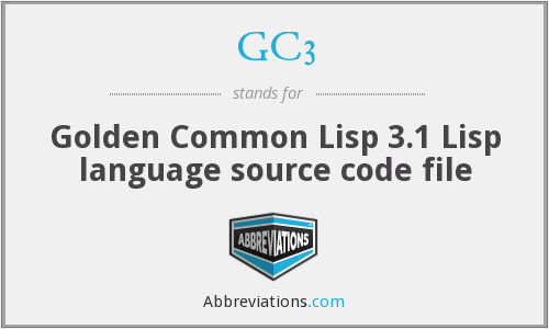 GC3 - Golden Common Lisp 3.1 Lisp language source code file