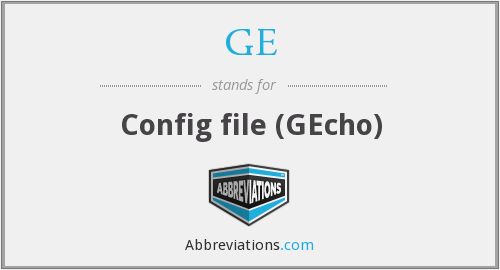 What does GE stand for?