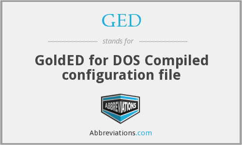 GED - GoldED for DOS Compiled configuration file