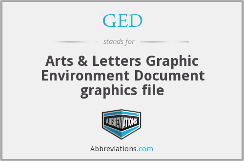 GED - Arts & Letters Graphic Environment Document graphics file