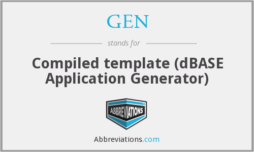 GEN - Compiled template (dBASE Application Generator)