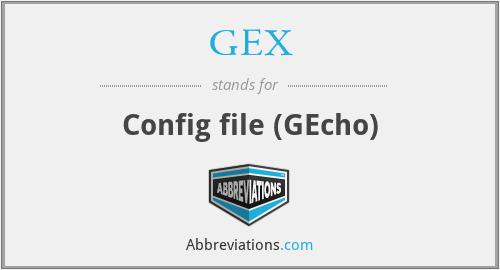 GEX - Config file (GEcho)