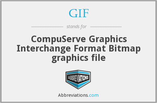 GIF - CompuServe Graphics Interchange Format Bitmap graphics file