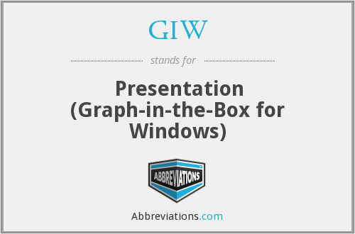 GIW - Presentation (Graph-in-the-Box for Windows)