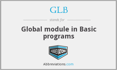 GLB - Global module in Basic programs