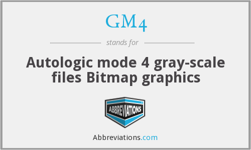 GM4 - Autologic mode 4 gray-scale files Bitmap graphics