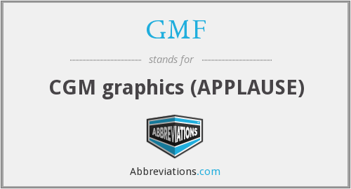 GMF - CGM graphics (APPLAUSE)