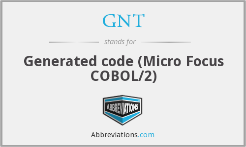 GNT - Generated code (Micro Focus COBOL/2)