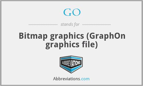GO - Bitmap graphics (GraphOn graphics file)