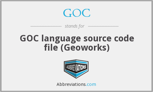 GOC - GOC language source code file (Geoworks)