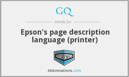 GQ - Epson's page description language (printer)