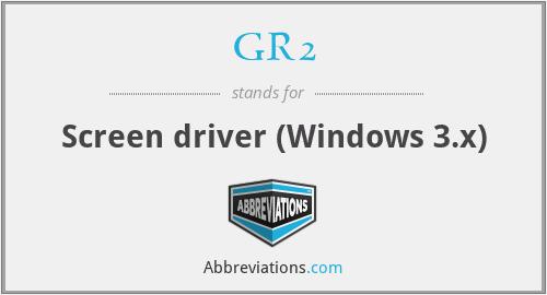 GR2 - Screen driver (Windows 3.x)