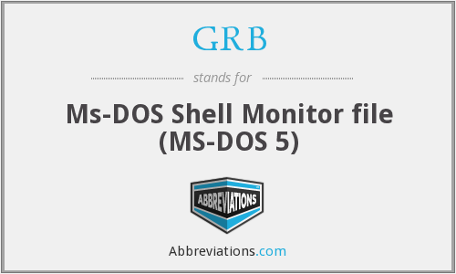 GRB - Ms-DOS Shell Monitor file (MS-DOS 5)