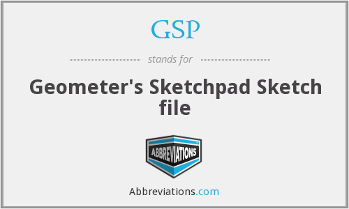 GSP - Geometer's Sketchpad Sketch file