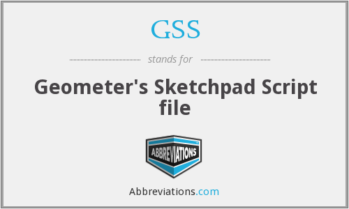 GSS - Geometer's Sketchpad Script file