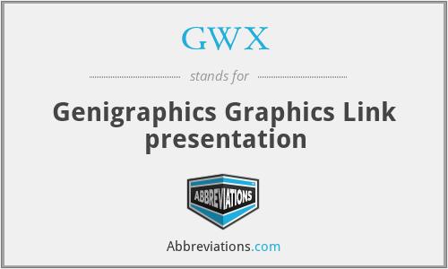 GWX - Genigraphics Graphics Link presentation