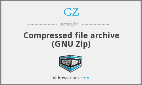 GZ - Compressed file archive (GNU Zip)