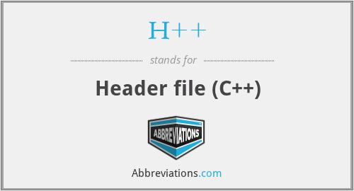 H++ - Header file (C++)