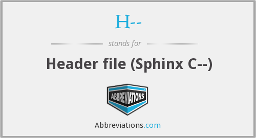 H-- - Header file (Sphinx C--)