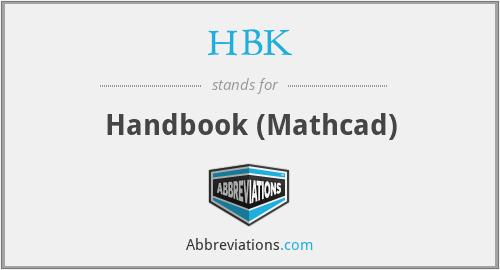 HBK - Handbook (Mathcad)