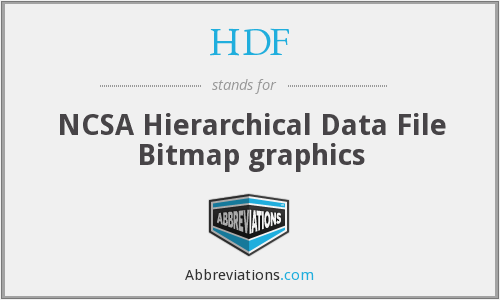 HDF - NCSA Hierarchical Data File Bitmap graphics