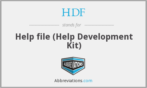 HDF - Help file (Help Development Kit)